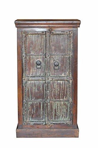 139,7?cm Kleiderschrank Schrank wieder Holz massiv rustikal Chic Design Vintage - 1