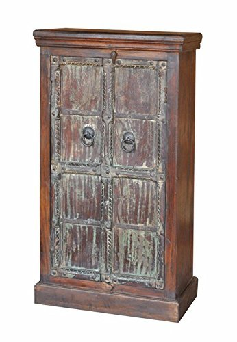 139,7?cm Kleiderschrank Schrank wieder Holz massiv rustikal Chic Design Vintage - 2