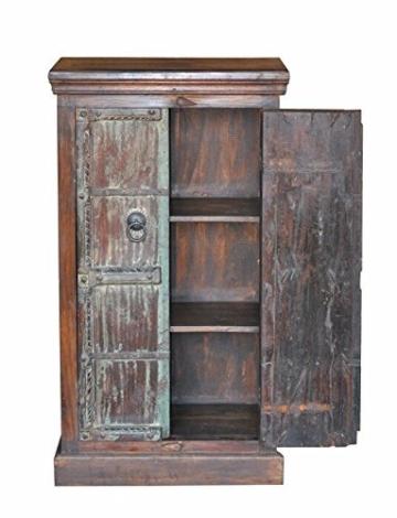 139,7?cm Kleiderschrank Schrank wieder Holz massiv rustikal Chic Design Vintage - 3