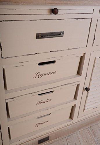 Antike Anrichte, Konsole, Sideboard, Wandschrank, Ablage in Villa-Vintage-Art, aus Holz in der Farbe Weiß, einzigartig schönes Möbelstück - Palazzo Exclusive - 4