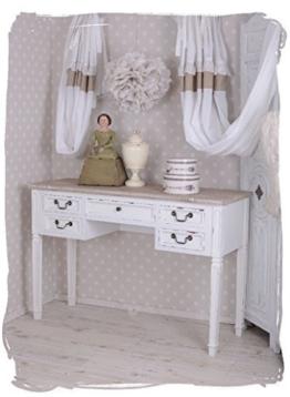 Antiker Schreibtisch, Computertisch, Schreibmöbel, Sekretär, Arbeitstisch, Tisch aus Holz im angesagten Vintage-Stil in Weiß - Palazzo Exclusive - 1