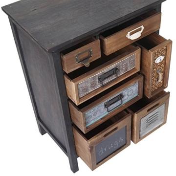 Apotheker-Schrank HWC-A43, Kommode, Tanne Holz massiv Vintage Patchwork 78x55x35cm - 4