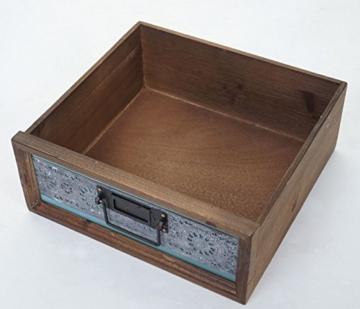 Apotheker-Schrank HWC-A43, Kommode, Tanne Holz massiv Vintage Patchwork 78x55x35cm - 7