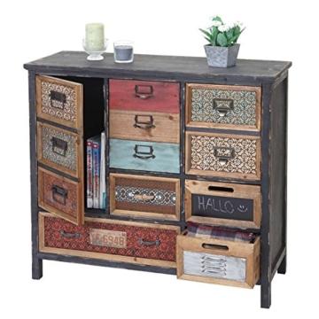 Apotheker-Schrank HWC-A43, Kommode, Tanne Holz massiv Vintage Shabby-Look 90x84x32cm - 2
