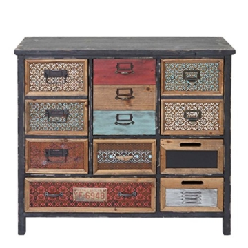 Apotheker-Schrank HWC-A43, Kommode, Tanne Holz massiv Vintage Shabby-Look 90x84x32cm - 3