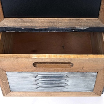 Apotheker-Schrank HWC-A43, Kommode, Tanne Holz massiv Vintage Shabby-Look 90x84x32cm - 4