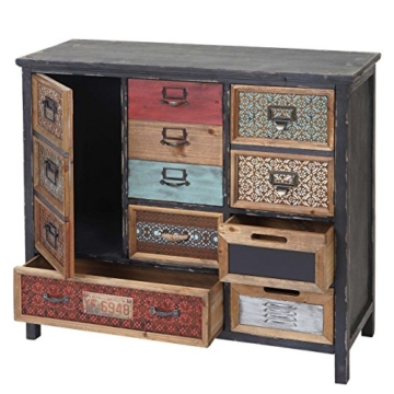 Apotheker-Schrank HWC-A43, Kommode, Tanne Holz massiv Vintage Shabby-Look 90x84x32cm - 1