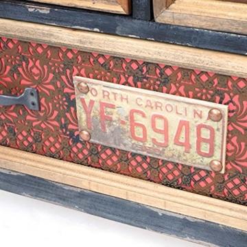 Apotheker-Schrank HWC-A43, Kommode, Tanne Holz massiv Vintage Shabby-Look 90x84x32cm - 6