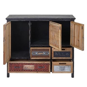 Apotheker-Schrank HWC-A43, Kommode, Tanne Holz massiv Vintage Shabby-Look 90x84x32cm - 7