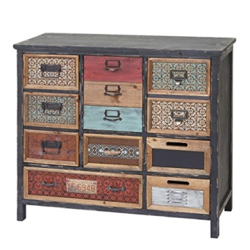 Apotheker-Schrank HWC-A43, Kommode, Tanne Holz massiv Vintage Shabby-Look 90x84x32cm - 8