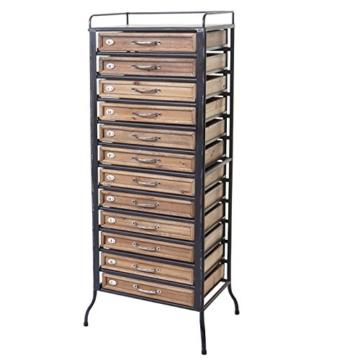Apotheker-Schrank HWC-A43, Tanne Holz massiv Vintage Shabby-Look 129x55x38cm - 3