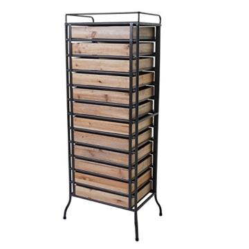 Apotheker-Schrank HWC-A43, Tanne Holz massiv Vintage Shabby-Look 129x55x38cm - 4