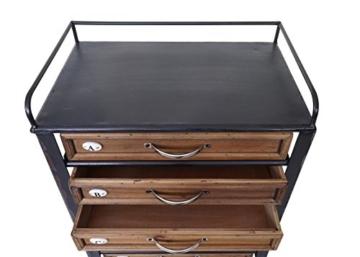 Apotheker-Schrank HWC-A43, Tanne Holz massiv Vintage Shabby-Look 129x55x38cm - 5