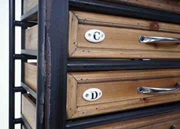 Apotheker-Schrank HWC-A43, Tanne Holz massiv Vintage Shabby-Look 129x55x38cm - 6