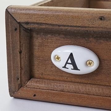 Apotheker-Schrank HWC-A43, Tanne Holz massiv Vintage Shabby-Look 129x55x38cm - 8