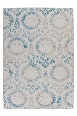 Austria - Krems Blau Flachfloor Teppich Teppiche Vintage Shabby Chic Design Neu, Größe:160cm x 230cm, Farbe:Blau - 1