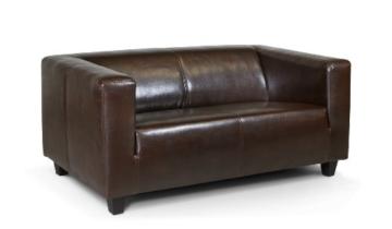 B-famous 2-Sitzer Sofa Kuba 149 x 88 cm, Kunstleder, braun - 1