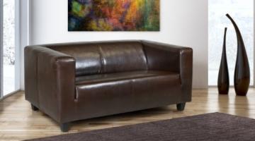 B-famous 2-Sitzer Sofa Kuba 149 x 88 cm, Kunstleder, braun - 2