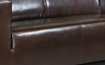 B-famous 2-Sitzer Sofa Kuba 149 x 88 cm, Kunstleder, braun - 3