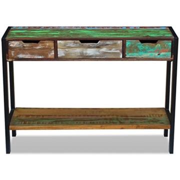 Beistelltisch Highboard Sideboard Konsolentisch 3 Schubladen Massivholz Vintage - 6