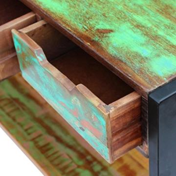 Beistelltisch Highboard Sideboard Konsolentisch 3 Schubladen Massivholz Vintage - 7
