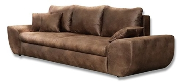 Big Sofa Braun Mit Schlaffunktion Bettkasten Vintage Look