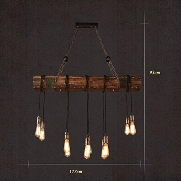 bjvb drei vintage industrie holz anh nger lampe schlafzimmer wohnzimmer kronleuchter vintage. Black Bedroom Furniture Sets. Home Design Ideas