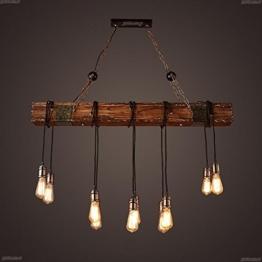 BJVB Drei Vintage Industrie Holz Anhänger Lampe Schlafzimmer Wohnzimmer Kronleuchter - 1