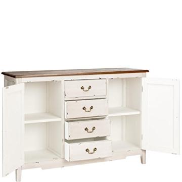 BUTLERS Cabott Cove Kommode im Landhausstil mit 4 Schubladen und 2 Türen - Sideboard Vintage-Look - Holz - 128 x 41,5 x 86,5 cm - 4