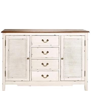 BUTLERS Cabott Cove Kommode im Landhausstil mit 4 Schubladen und 2 Türen - Sideboard Vintage-Look - Holz - 128 x 41,5 x 86,5 cm - 1