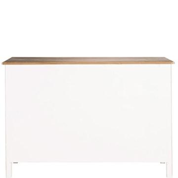 BUTLERS Cabott Cove Kommode im Landhausstil mit 4 Schubladen und 2 Türen - Sideboard Vintage-Look - Holz - 128 x 41,5 x 86,5 cm - 6