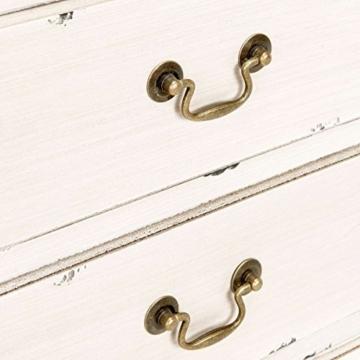 BUTLERS Cabott Cove Kommode im Landhausstil mit 4 Schubladen und 2 Türen - Sideboard Vintage-Look - Holz - 128 x 41,5 x 86,5 cm - 9