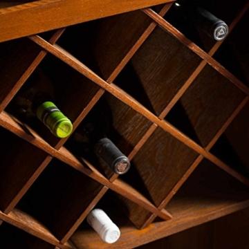 BUTLERS Hemingway Koffer-Bar mit separatem Tablett aus Eschenholz - 5