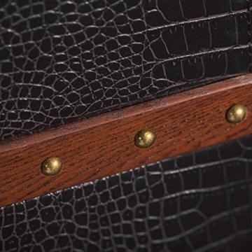 BUTLERS Hemingway Koffer-Bar mit separatem Tablett aus Eschenholz - 8