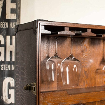 BUTLERS Hemingway Koffer-Bar mit separatem Tablett aus Eschenholz - 9