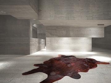 Casa Padrino Designer Kuhfell Teppich Vintage Look Rot - Handgefertigt - Möbel Fell Teppich, Grösse:190 x 220 cm - 2