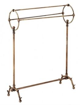 Casa Padrino Luxus Handtuch Halter - Stand Garderobe Vintage Brass Messingfarben - Garderobe Antik Stil Barock Jugendstil Hotel, Bad, Badezimmer Möbel - 1