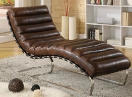 Chaise Echtleder Vintage Leder Relaxliege Braun Design Recamiere Liege Sessel Chaiselongue Ledersessel NEU 436 - 1