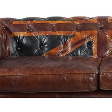 Chesterfield Union Jack - 3-Sitzer Sofa - Leder Vintage Cigar - 6