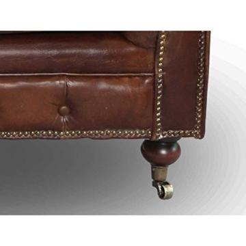 Chesterfield Union Jack - 3-Sitzer Sofa - Leder Vintage Cigar - 7