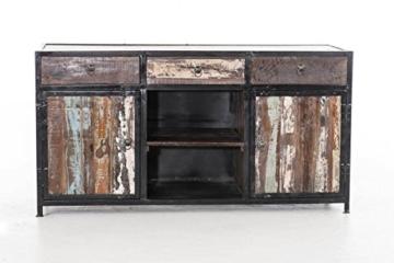 CLP Sideboard SAKRI im Industrie Design, Materialmix aus Holz und Metall, 145x50 cm, Höhe 76 cm Bunt - 2