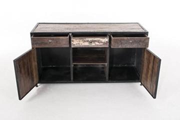 CLP Sideboard SAKRI im Industrie Design, Materialmix aus Holz und Metall, 145x50 cm, Höhe 76 cm Bunt - 5