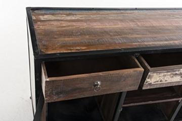 CLP Sideboard SAKRI im Industrie Design, Materialmix aus Holz und Metall, 145x50 cm, Höhe 76 cm Bunt - 6