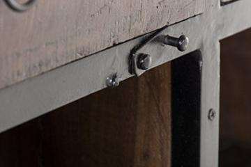 CLP Sideboard SAKRI im Industrie Design, Materialmix aus Holz und Metall, 145x50 cm, Höhe 76 cm Bunt - 7