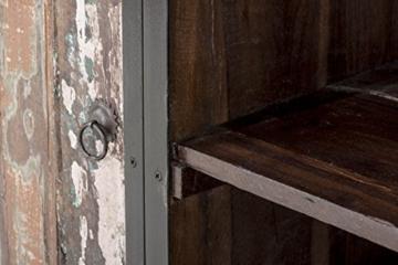 CLP Sideboard SAKRI im Industrie Design, Materialmix aus Holz und Metall, 145x50 cm, Höhe 76 cm Bunt - 8