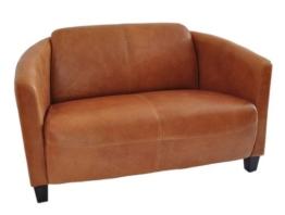 Clubsofa Rocket 2-Sitzer Vintage Leder, hell Columbia Brown Echtleder Sofa Couch - 1