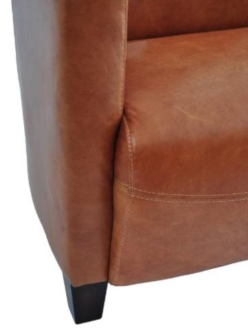 Clubsofa Rocket 4-Sitzer Vintage Leder, hell - 5