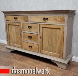 dasmöbelwerk Buffet Antik Vintage Kommode Sideboard Anrichte Schubladen Türen Schrank - 1