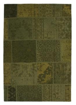 Designer Teppich Modernes Vintage Patchwork Muster Grün, Grösse:200x290 cm - 1
