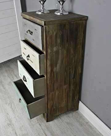 Elbmobel Kommode Vintage Aus Holz In Braun Und Bunt Antik Landhaus